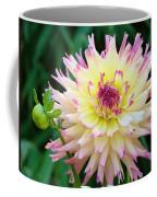 Dahlia Floral Pink Yellow Flower Garden Baslee Troutman Coffee Mug
