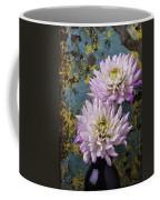 Dahlias Against Rusty Wall Coffee Mug
