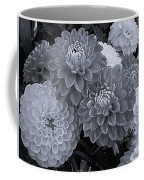 Dahlias Multi Bw Coffee Mug