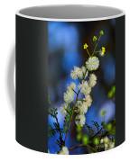 Dainty Wildflowers On Blue Bokeh By Kaye Menner Coffee Mug
