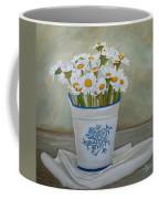 Daisies And Porcelain Coffee Mug by Angeles M Pomata