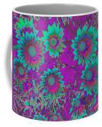 Pop Art Daisies Aqua Coffee Mug