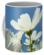 Daisies Floral Art Prints Canvas Daisy Flowers Blue Skies Coffee Mug