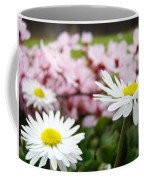 Daisies Flowers Art Prints Spring Flowers Artwork Garden Nature Art Coffee Mug