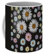 Daisies On Black Coffee Mug