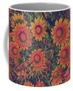 Pop Art Daisies Orange Coffee Mug