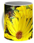 Daisies Summer Garden Art Print Yellow Daisy Baslee Coffee Mug