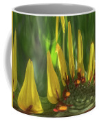 Daisy Abstract 032317-6357-4cr Coffee Mug