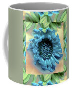 Daisy Blue Frame Coffee Mug