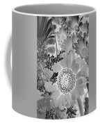 Daisy Bouquet In Black And White Coffee Mug