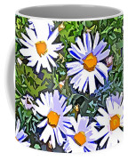 Daisy Flower Garden Abstract Coffee Mug