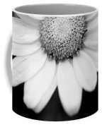 Daisy Smile - Black And White Coffee Mug
