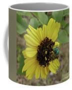 Daisy With Blue Bee Coffee Mug