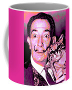 Dali With Ocelot And Cane Coffee Mug