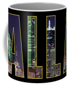 Dallas Letter Skyline 013018 Coffee Mug