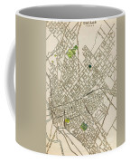 Dallas Texas Map 1899 Coffee Mug