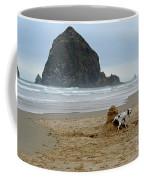 Dalmatian Peeing On Sandcastle Coffee Mug