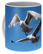 Aerial Dance Of The Seagulls Coffee Mug
