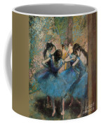 Dancers In Blue Coffee Mug by Edgar Degas