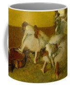 Dancers In The Green Room Coffee Mug by Edgar Degas