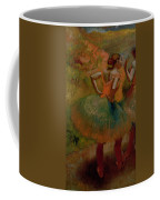 Dancers Wearing Green Skirts Coffee Mug by Edgar Degas