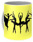 Dancing Ballerinas Silhouette Coffee Mug