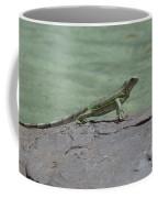 Dancing Iguana On Rocks Along The Water's Edge Coffee Mug