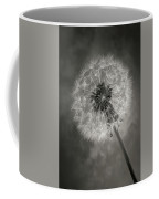 Dandelion In Black And White Coffee Mug