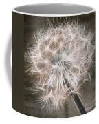 Dandelion In Brown Coffee Mug by Aimelle