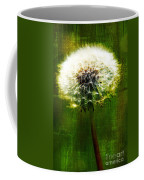 Dandelion In Green Coffee Mug