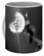 Dandelion Puff In Black And White Coffee Mug
