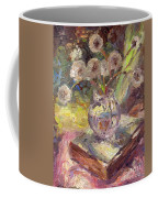 Dandelions Flowers In A Vase Sunny Still Life Painting Coffee Mug