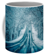 Dangerous Slippery And Icy Road Conditions Coffee Mug