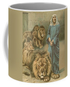 Daniel In The Lions Den Coffee Mug by John Lawson
