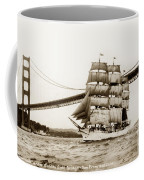 Danmark Sailing Under The Golden Gate Bridge San Francisco Coffee Mug
