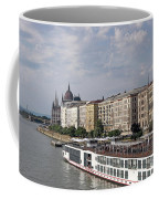Danube Riverside With Old Buildings Budapest Hungary Coffee Mug