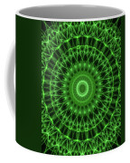 Dark And Light Green Mandala Coffee Mug