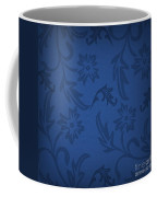 Dark Blue Floral Coffee Mug