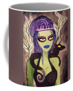 Dark Fairy With Dragon Friend Coffee Mug