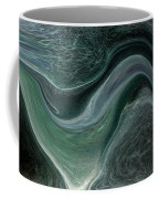 Dark Green Flow Coffee Mug