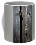 Dark Old Wooden Boards With Shadow Coffee Mug
