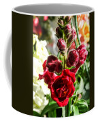 Dark Red Fancy Snapdragon Coffee Mug