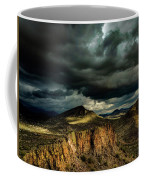 Dark Storm Clouds Over Cliffs Coffee Mug