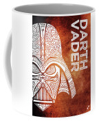 Darth Vader - Star Wars Art - Brown And White Coffee Mug
