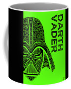 Darth Vader - Star Wars Art - Green Coffee Mug