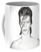 David Bowie Charcoal  Coffee Mug
