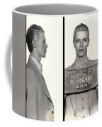David Bowie Mugshot 1976 Coffee Mug