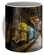 David Bowie Tribute Central Square Cambridge Graffiti Down The Tunnel Coffee Mug