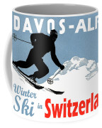 Davos, Alps, Mountains, Switzerland, Winter, Ski, Sport Coffee Mug