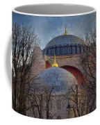 Dawn Over Hagia Sophia Coffee Mug by Joan Carroll